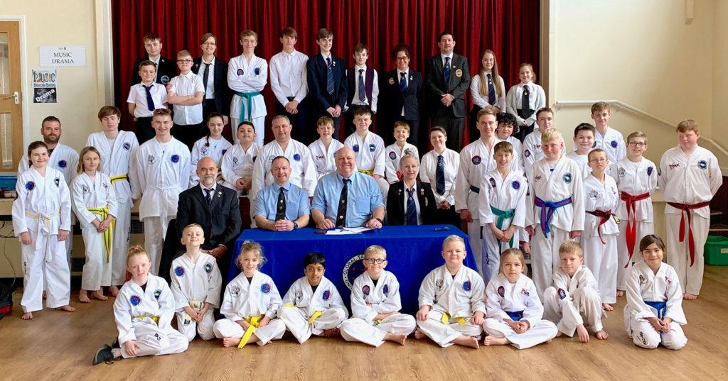 Beccles Taekwondo promotional belt grading