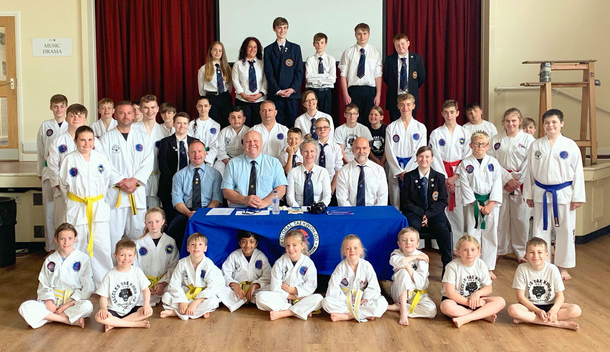 Beccles Taekwondo Students Summer belt grading 2019